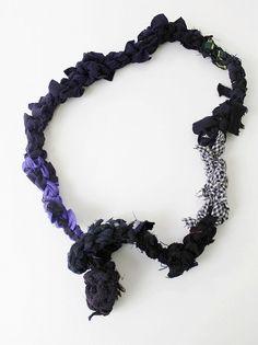 DANIELA GREGIS ダニエラグレジス 裂き織り編みネックレス*小物_画像1