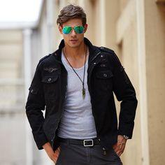 1e737840ba7 Canvas Military-Style Jacket  new  unisex  jacket  inspo  picoftheday   fashioninspo  style  fashiondiaries  fashionpost  followme  ootd   trailblazer ...