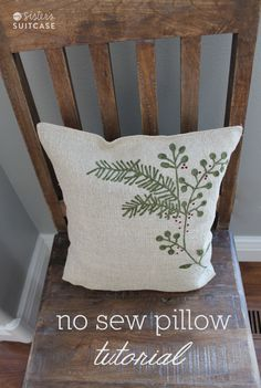 $5 Friday: No-Sew Pillow and Christmas Home Tour from My Sister's Suitcase