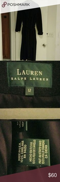 Camel Hair Long Ralph Lauren Coat Size 12 Jackets & Coats Trench Coats