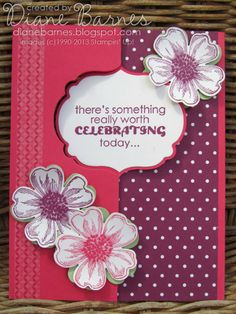 Stampin Up Flower Shop flip birthday card using labels thinlits card die - by Di. - Stampin Up Flower Shop flip birthday card using labels thinlits card die – by Di Barnes - Scrapbooking, Scrapbook Cards, Swing Card, Circle Labels, Step Cards, Card Sentiments, Flower Cards, Homemade Cards, Stampin Up Cards
