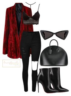 """""""Untitled #750"""" by lexceptionallystyled on Polyvore featuring Haider Ackermann, Christian Louboutin, Charlotte Russe, Calvin Klein 205W39NYC and Yves Saint Laurent"""