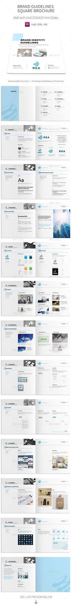 Brand Manual - InDesign Template u2022 Only available here! ➝ https - it manual template