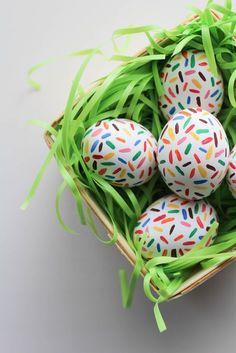 DIY Sprinkle Easter Eggs - Let's Mingle Blog