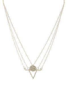 Minimalist Charm Necklaces - 3 Pack: Charlotte Russe #necklace