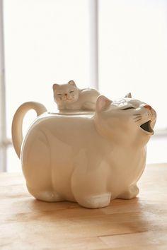Big Cat Tea Pot