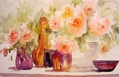 Painting - Glass And Roses by Sandra Strohschein