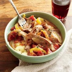 Italian Braised Pork with Polenta Recipe #cookinglight