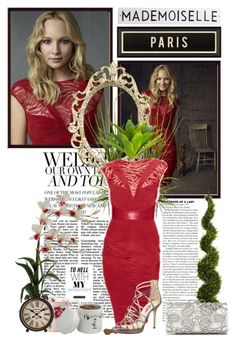 """""""TVD~Caroline Forbes~Season 4 Promo Photoshoot"""" by fashion10496 ❤ liked on Polyvore featuring Jimmy Choo, Forever New, Spicher and Company, Nearly Natural, Rosanna, Royal Albert and ORE Pet"""