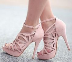 Blush Pink High Heels | Tsaa Heel