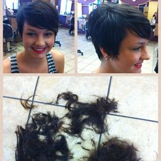 In a week or two my hair will be long enough to restructure my hair to this pixie rather then the one I have now.