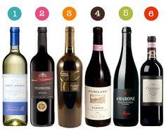 Some of my favorite wines: Barolo, Amarone (Allegrini)