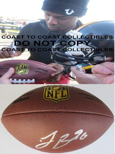 Le'veon Bell , Pittsburgh Steelers, Michigan State, Signed, Autographed, NFL Duke Football, a COA with the Proof Photo of Le'veon Signing Will Be Included with the Football