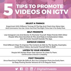 If you want to move your business then you must focus on Videos.  Here are few Platforms like Instagram Television IGTV which will make a good views on Instagram organically.  As Instagram is having a good base for business which will build your brand from  videos easily. So Why waiting? Let's Jump towards this.  For more interesting post updates follow our Social Media Channels and subscribe to our Website. Like Instagram, Social Media Channels, Build Your Brand, Platforms, Social Media Marketing, Promotion, Waiting, Student, Base
