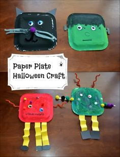 Last Minute Halloween Decorations - Paper Plate Halloween Crafts