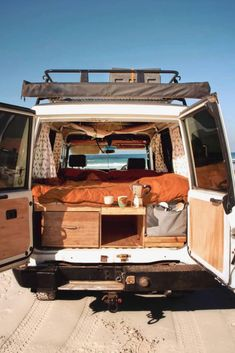 Camper Van Interiors That Could Replace A Tiny Home – House Topics – camping Camping Hacks, Van Camping, Bus Life, Camper Life, Campers, Vw Camper, Kombi Home, Vanz, Van Home