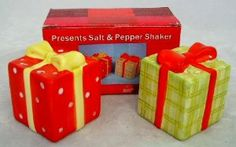"""Christmas Presents Salt/Pepper Set (48 Pack) by DDI. $110.58. Christmas presents ceramic hand painted salt & pepper set- each piece measures 2"""" x 2"""" x 2.25"""" tall.. Save 57% Off!"""
