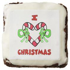 I Love Christmas Brownies Brownie http://www.zazzle.com/i_love_christmas_brownies_brownie-256419208708672238?rf=238271513374472230  #christmas #ediblegifts #christmasideas