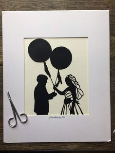 First Anniversary Gift Idea - Custom Hand Cut Wedding Silhouette Art Wedding Silhouette, Black Silhouette, Silhouette Cameo, Wedding Photos, Wedding Day, First Anniversary Gifts, Single Sheets, Silhouette Portrait, Glue Crafts