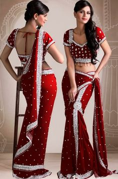 Red Sari #indianwedding, #shaadibazaar