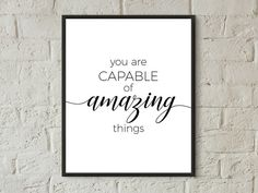 Inspirational Quotes For Girls, Home Quotes And Sayings, Inspirational Wall Art, Wall Quotes, Quotes Kids, Framed Quotes, Frames On Wall, Framed Wall Art, Wall Art Decor