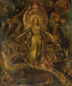 William Blake. The Spiritual Form of Pitt Guiding Behemoth. 1805.