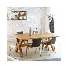 Bois Dessus Bois Dessous - Table rectangulaire en Teck Recycle 200 cm Naturel - 77 - pas cher Achat / Vente Tables à manger - RueDuCommerce