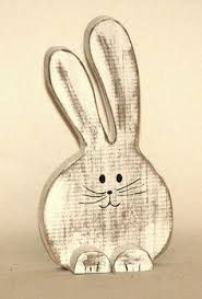 Image result for easter rabbit head garden stake\ wood craft