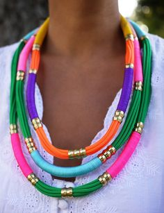 You'll never guess what materials are used to make this necklace!