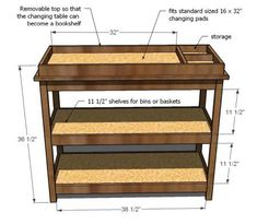 Perfect--- Erik is ready to build a changing table, and this seems so simple!!