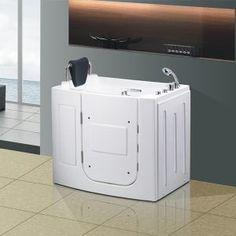 Corner Walk in Bathtub with Shower Tub Shower Combo