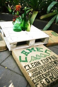 RECYCLED COFFEE BEAN BAG FLOOR CUSHIONS