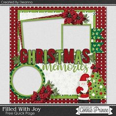 cap_deanna_FWJ_qp2_freebie_preview Christmas Layout, Christmas Scrapbook Layouts, Disney Scrapbook, Scrapbook Page Layouts, Scrapbook Cards, Christmas Cards, Recipe Scrapbook, Digital Scrapbooking Freebies, Winter Christmas
