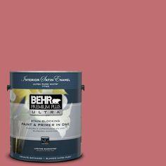 BEHR Premium Plus Ultra 1 gal. #hdc-SP14-8 Art House Pink Satin Enamel Interior Paint