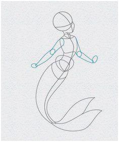 how to draw ariel the little mermaid, step 5 (Drawing Step Pictures) Easy Mermaid Drawing, Mermaid Drawings, Ocean Drawing, How To Draw Mermaid, Mermaid Drawing Tutorial, Mermaid Sketch, Drawings Of Mermaids, Manga Mermaid, Mermaid Cartoon
