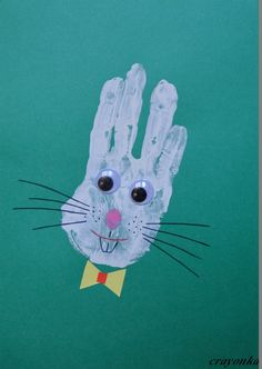 hare with wrung hands Projects For Kids, Crafts For Kids, Hare, Kindergarten, Easter, Sculpture, Tobias, Petra, Fun