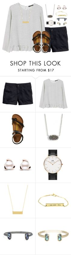 """sweet & southern (:"" by livnewell ❤ liked on Polyvore featuring H&M, MANGO, Birkenstock, Kendra Scott, Daniel Wellington and BaubleBar"