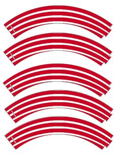 Food Art Party: Free Printable Cupcake Wrapper in Stripes!