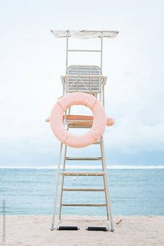 Stock photo of Lifeguard seat on the beach by DinaLun 2019 - summer dress summer shirts summer aesthetic aesthetic aesthetic collage aesthetic drawings aesthetic fashion aesthetic outfits flower aesthetic - blue aesthetic - Summer Blue Dresses 2019