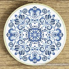 Tittle: Delft blue This PDF counted cross stitch pattern available for instant download. Skill level: Beginner. Pattern size (without white borders around): stitches: 90h x 90w ready design: 6.5h x 6.5w for 14-count fabric. You can frame it in 8x8 frame or bigger size frame Floss: 3 DMC colors 14-count Aida fabric This PDF pattern include: • image of finished design • description • black and white symbols chart • colorful symbols chart • color blocks chart • DMC floss list • beginners ...