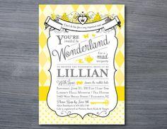 Alice in Wonderland Bridal Shower Invitation by GoodiesDesigns, $15.00