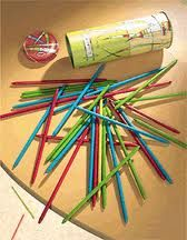 Pick up Sticks.  Steady.  Steady.  Steady!  Oh, one needed nerves of steel with this game.  And I had them!