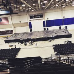 The stage is getting set for Cirque Dreams Holidaze at the #FiveFlagsCenter in #Dubuque #Iowa TOMORROW! #Platteville #Madison #Galena #Dyersville #Davenport #Bettendorf #IowaCity #CedarRapids