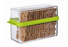 Ryvita® / Crispbread Storage Box at STORE. Crystal clear acrylic air-tight storage box to store crisp bread and Ryvita crackers Thm Recipes, Skinny Recipes, Healthy Recipes, Home Gadgets, Kitchen Gadgets, Kitchen Storage Boxes, Garage Storage, Crisp Bread, Bread Kitchen