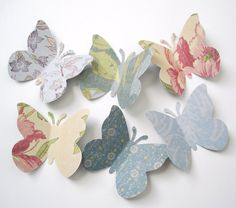 50 Large Fresh Floral Classic Butterfly punch die cut scrapbooking embellishments - No269