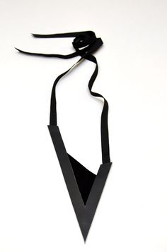 Aumorfia | Polygons | SS14 | Check leather necklace | side B | www.aumorfia.com