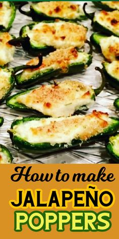 These jalapeno poppers are baked not fried, so they are quick and easy to make. They are a delicious appetizer to serve for football parties or weekend get togethers. #organizedisland #jalapenopoppers #appetizers #footballfood #easyappetizers Side Recipes, Clean Recipes, Veggie Recipes, Easy Recipes, Amazing Recipes, Snack Recipes, Cooking Recipes, Healthy Recipes, Snacks