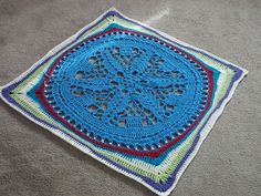 Ravelry: How to Square Zooty Owls Starflower Mandala pattern by Carole Marie