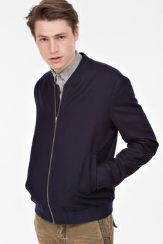 Blue Bomber Jacket, Flannel, Men Sweater, Athletic, Wool, Sweaters, Jackets, Shopping, Fashion