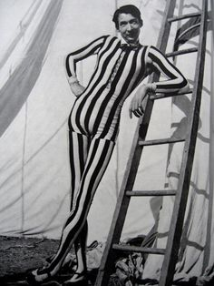 1950s Circus Tall Man, Christian Montone. Anyone care to take a guess at his height?